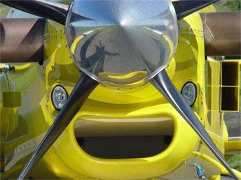 Pressure cowl with two XV-22 installed by Cascade Aircraft Conversions