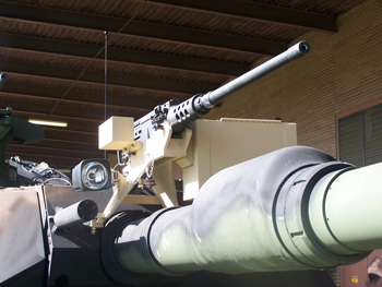 The XeVision HID light on M1 Abrams Main Battle Tank (MBT)